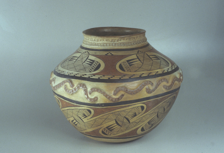 A photograph of a clay pot.