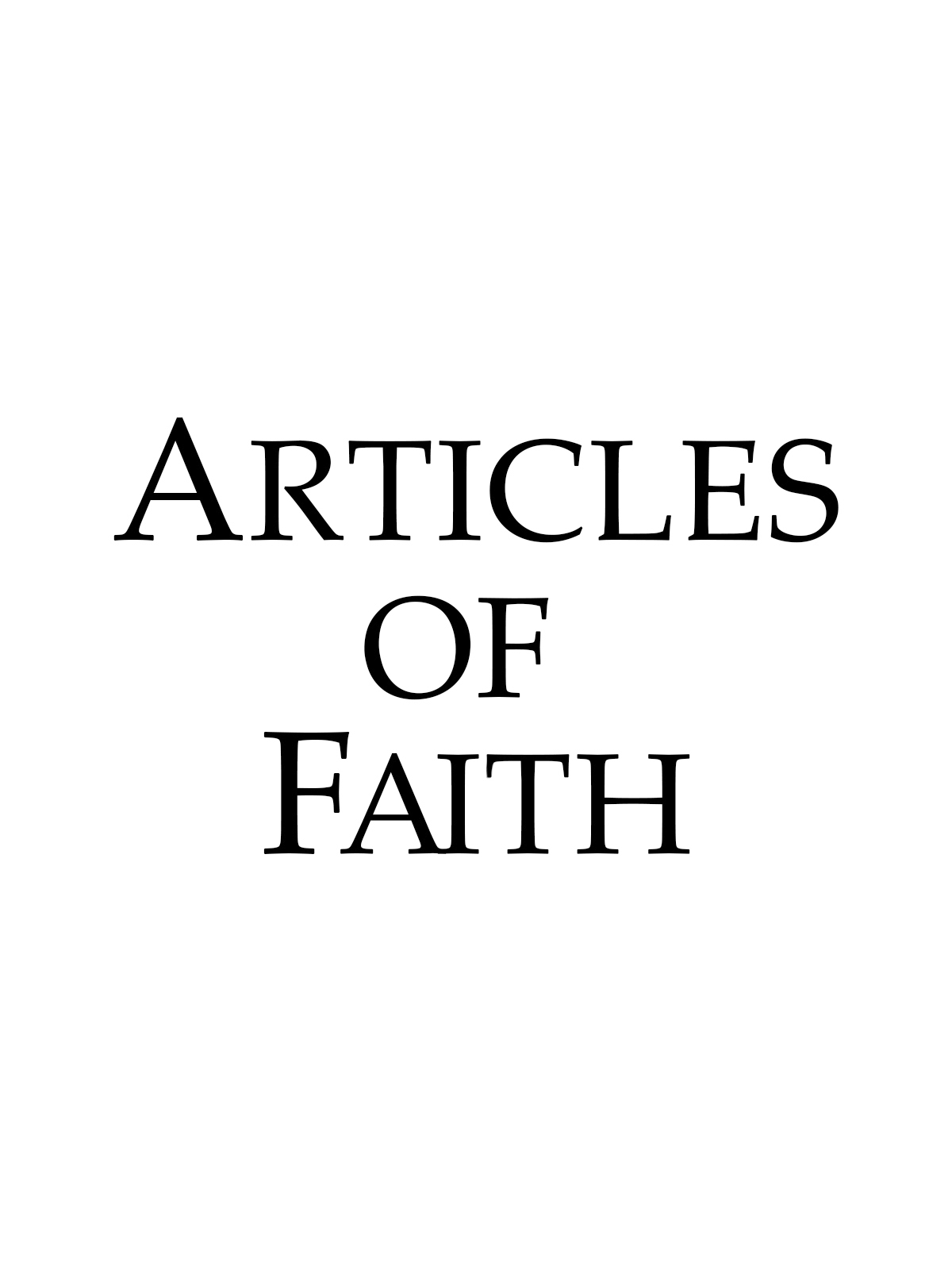 A depiction of Articles of Faith for the Primary Schedule.