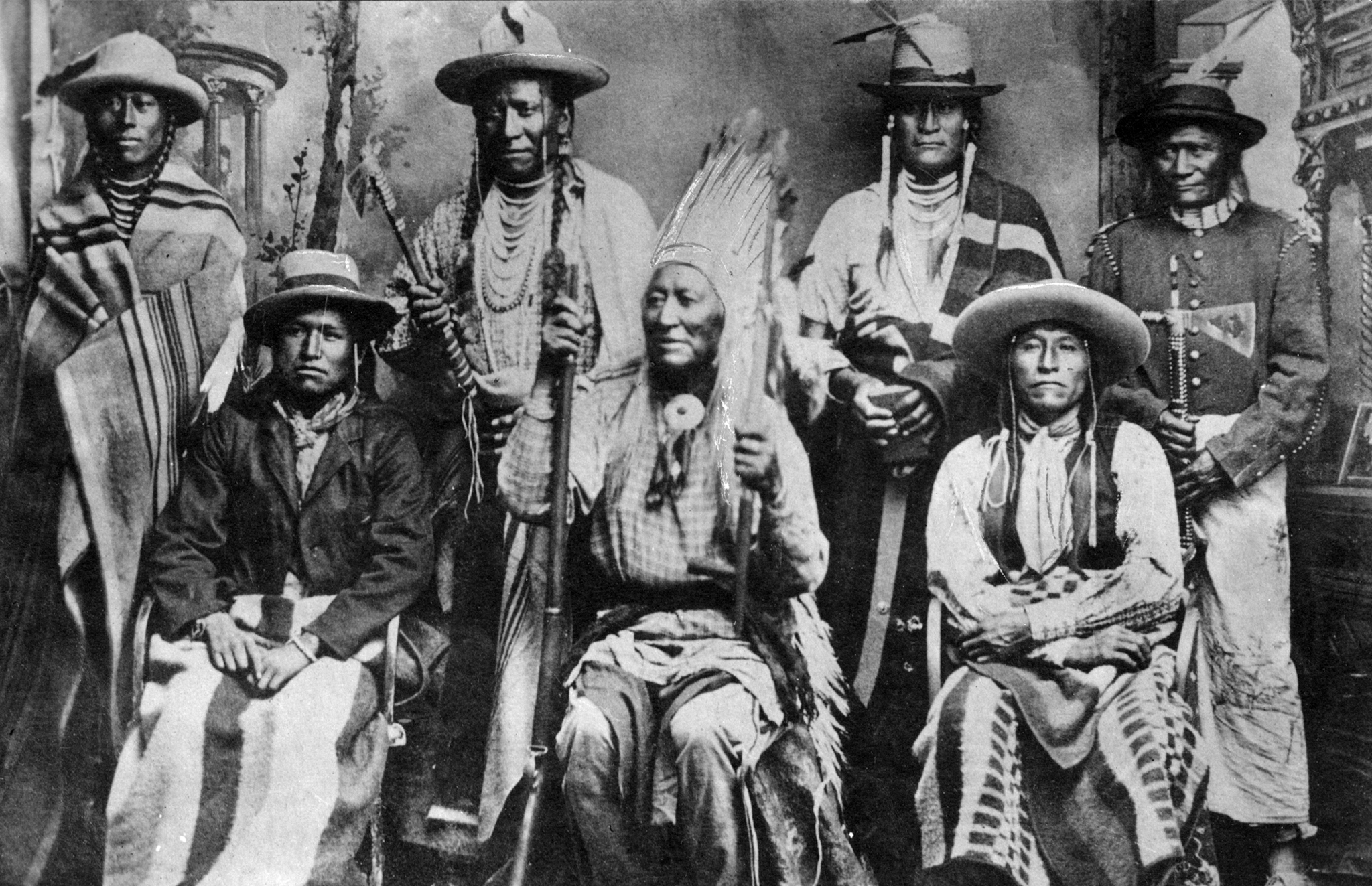 Chief Washakie and other Shoshone men
