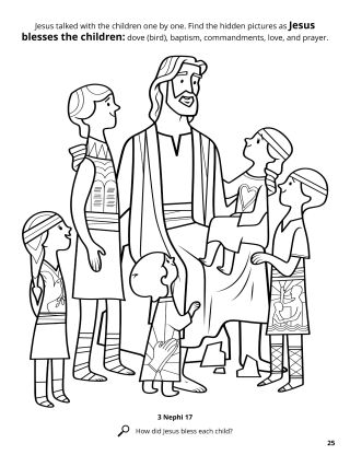 Jesus Blessed the Children coloring page