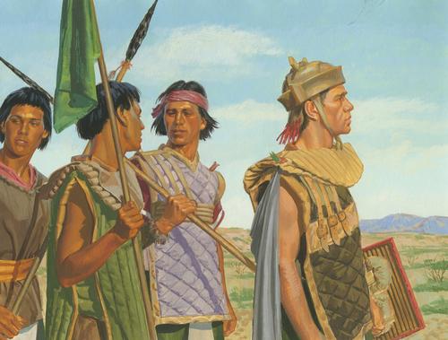 Helaman with warriors