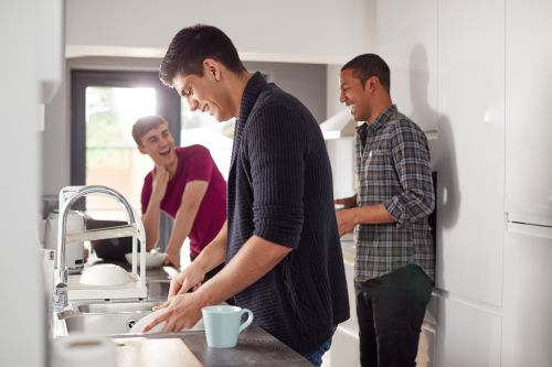 young men in the kitchen