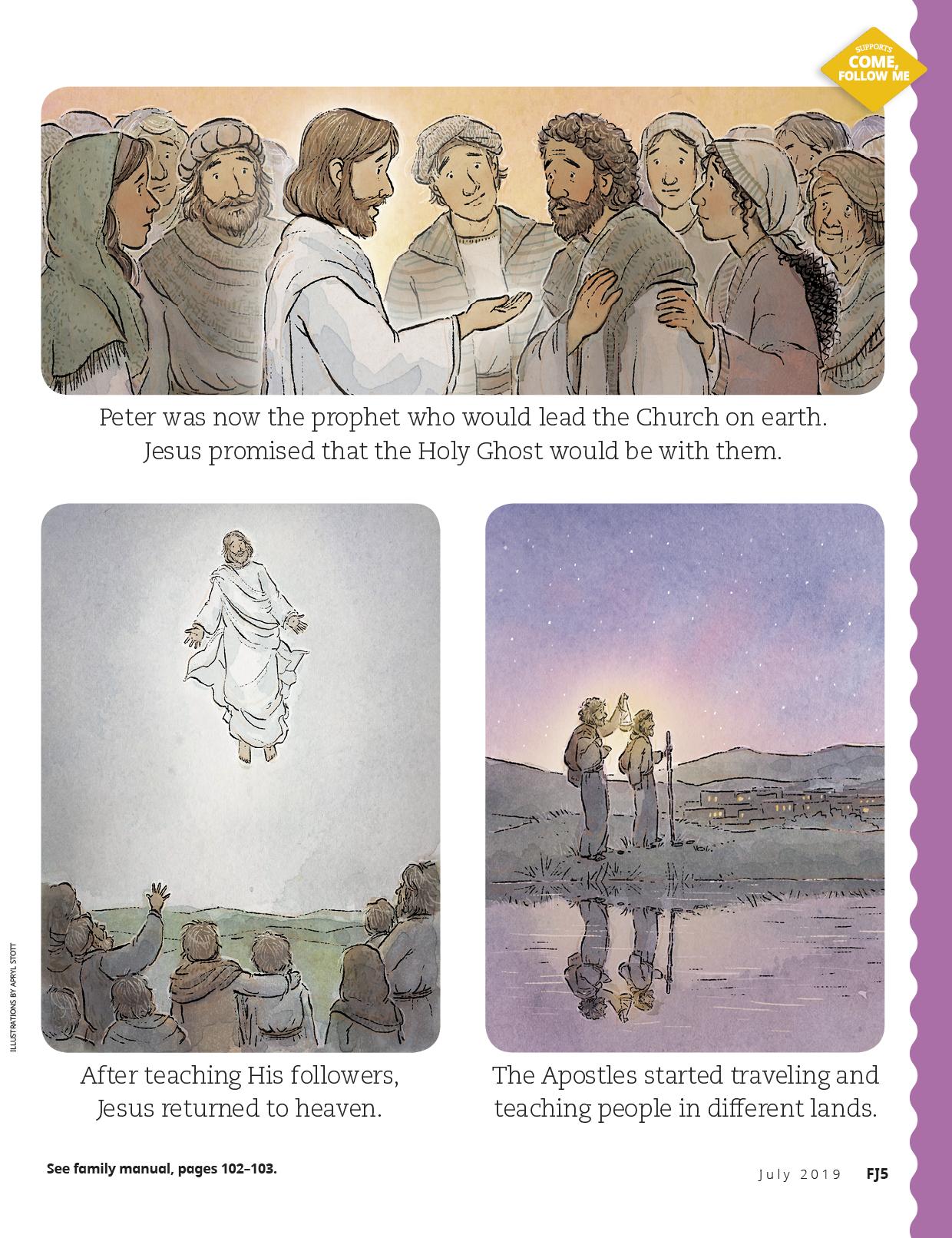 Jesus teaching His followers