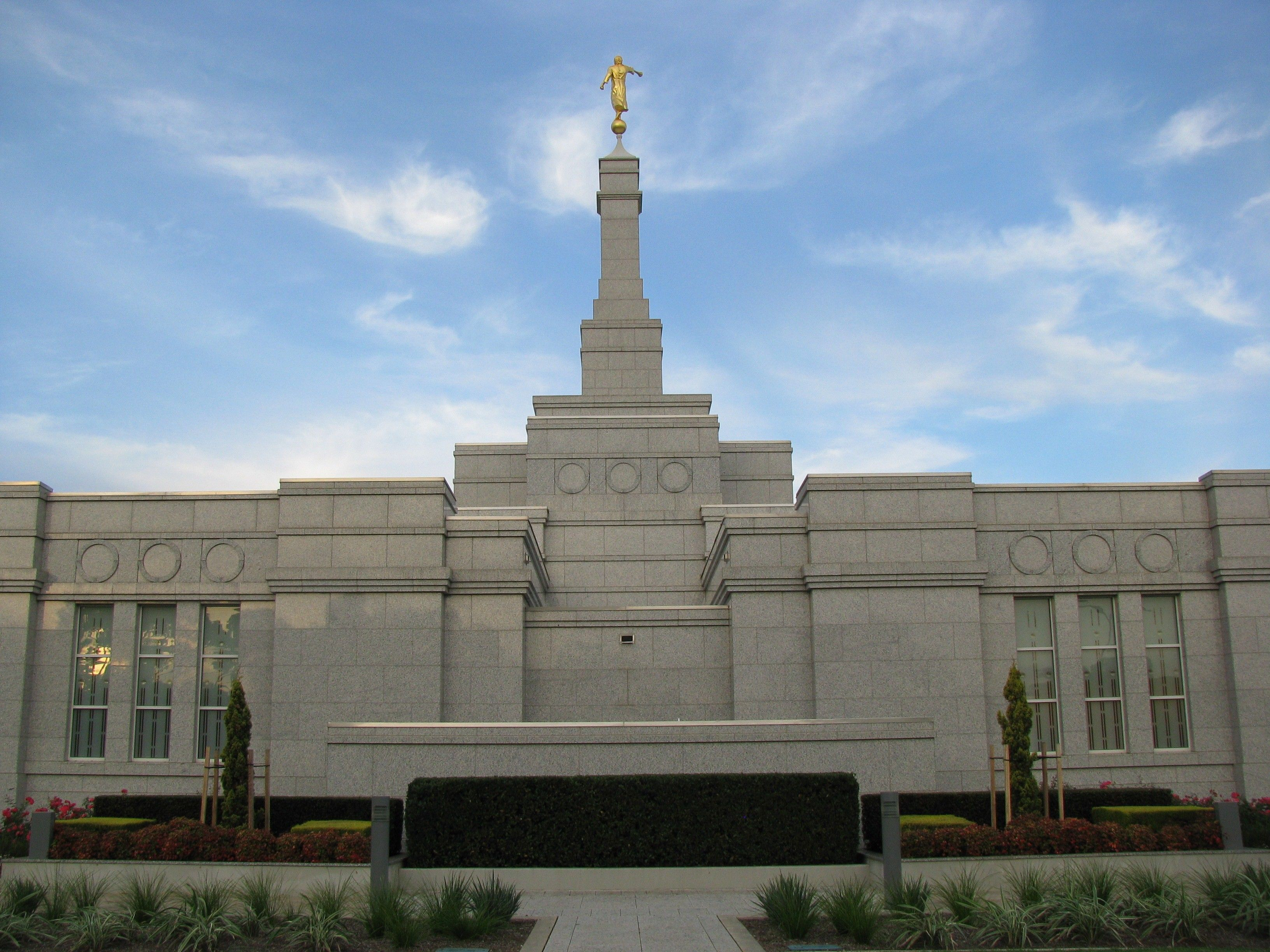 The exterior view of the back of the Adelaide Australia Temple.