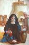 widow of Zarephath and her son, vertical version