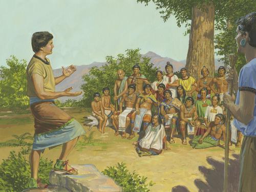 Mosiah teaching Lamanites