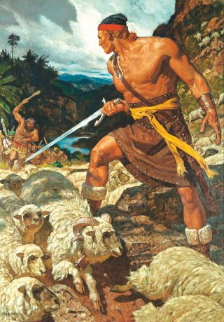 Ammon Defends the Flocks of King Lamoni