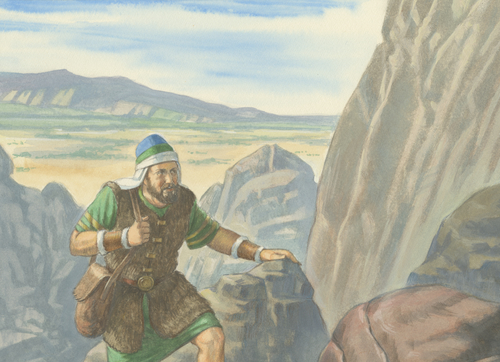 brother of Jared climbing mountain