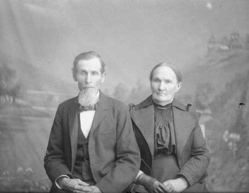 Priscilla Merriman and Thomas D. Evans, circa 1901.