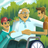 young men with old man in wheelchair