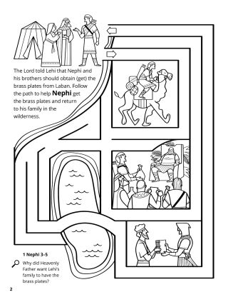 Nephi Obtained the Brass Plates coloring Page