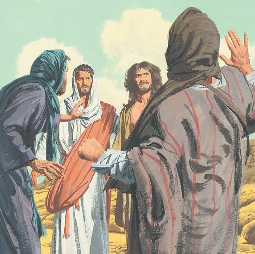 people talking to Jesus