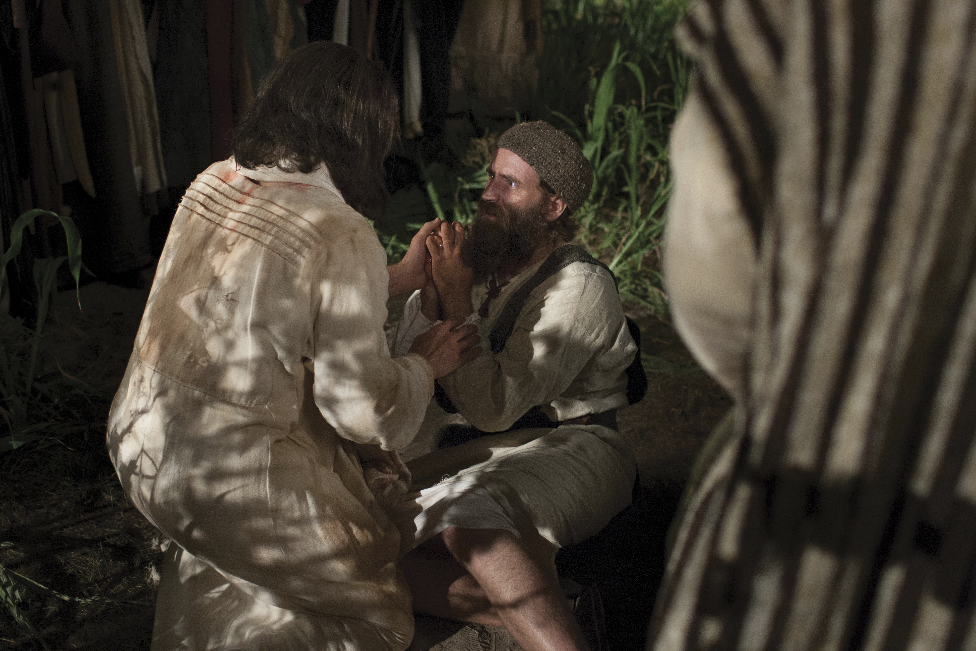 At the scene of His arrest, Jesus heals the soldier whose ear was cut off by Peter.