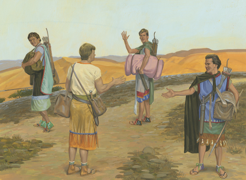 sons of Mosiah leaving