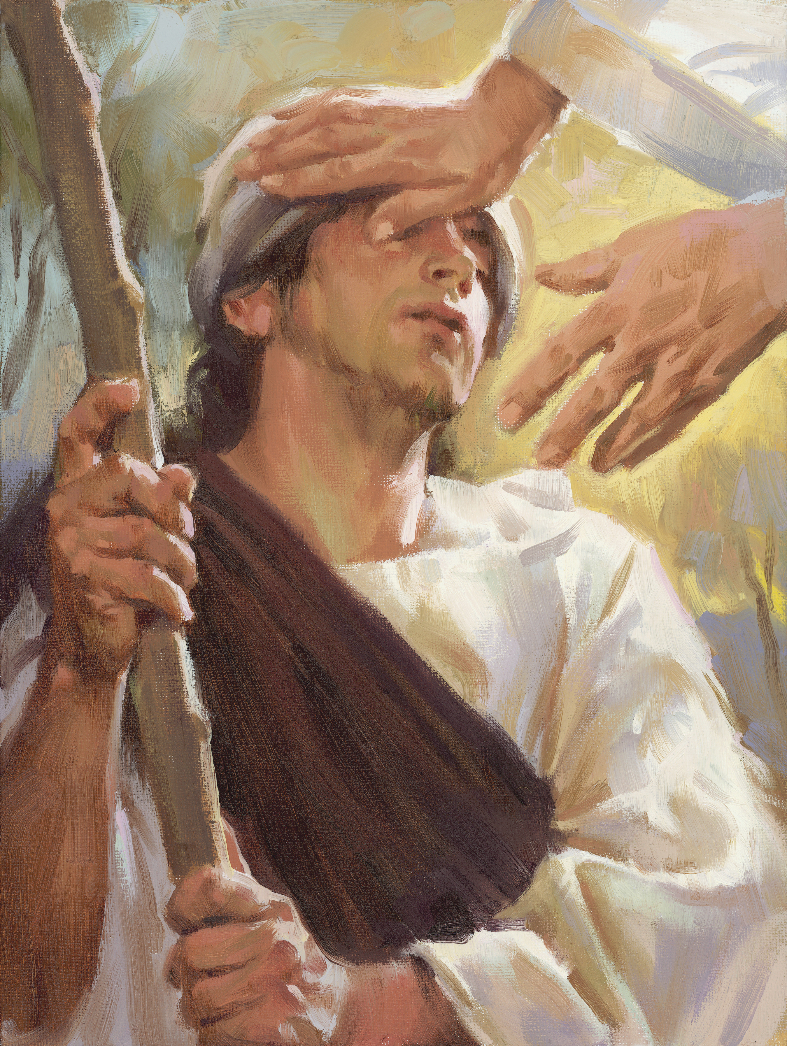Christ Healing a Blind Man, by Sam Lawlor