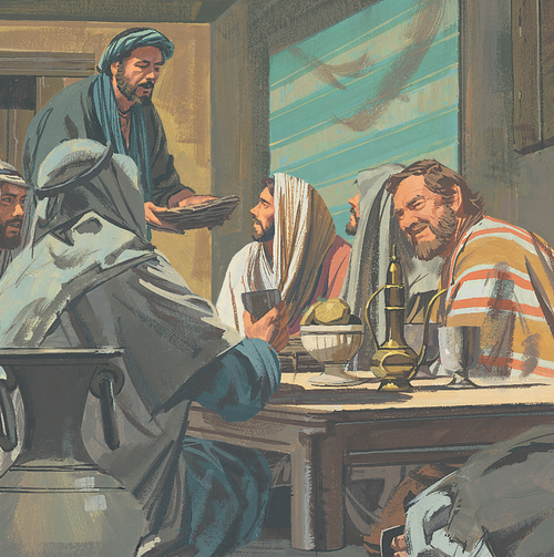 Jesus and Apostles eating Passover feast