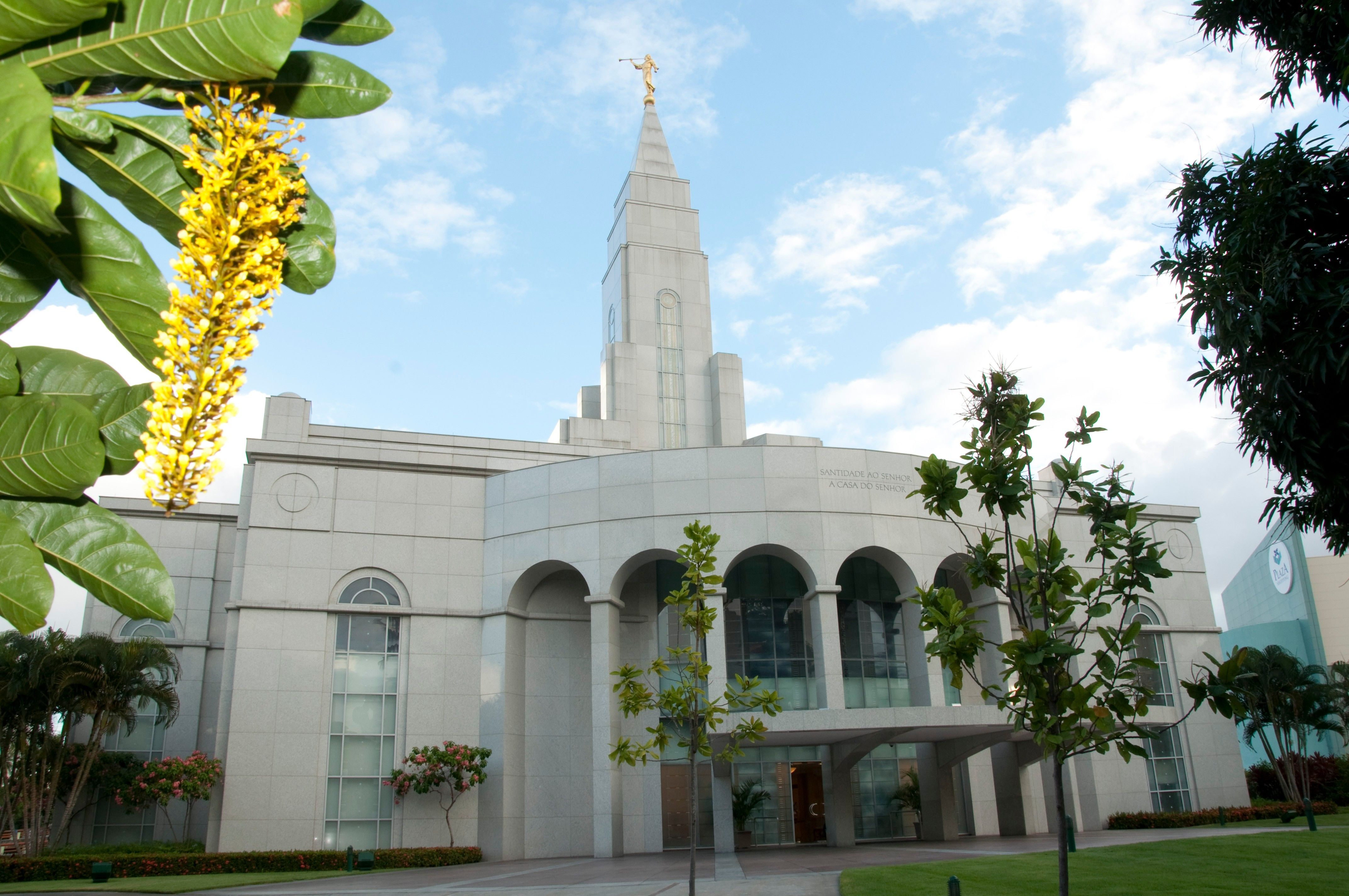 The Recife Brazil Temple on a sunny day.