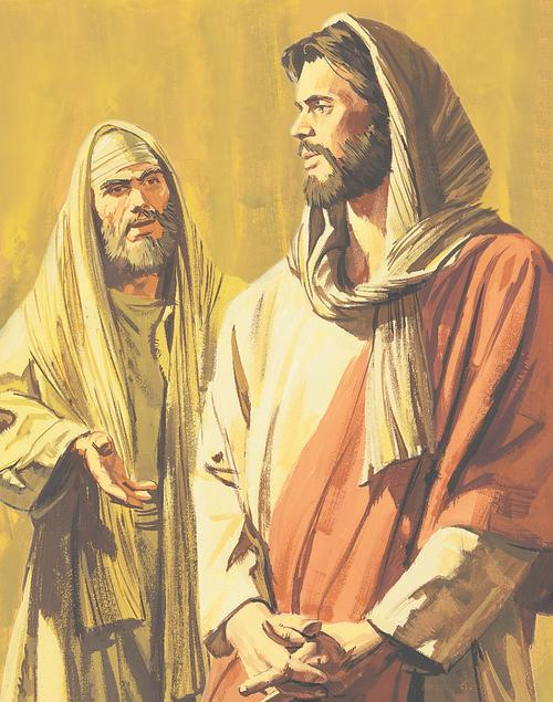 man talking to Jesus