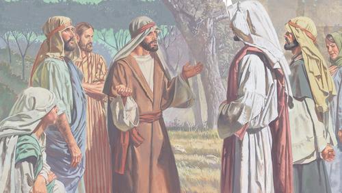 disciples talking to Jesus