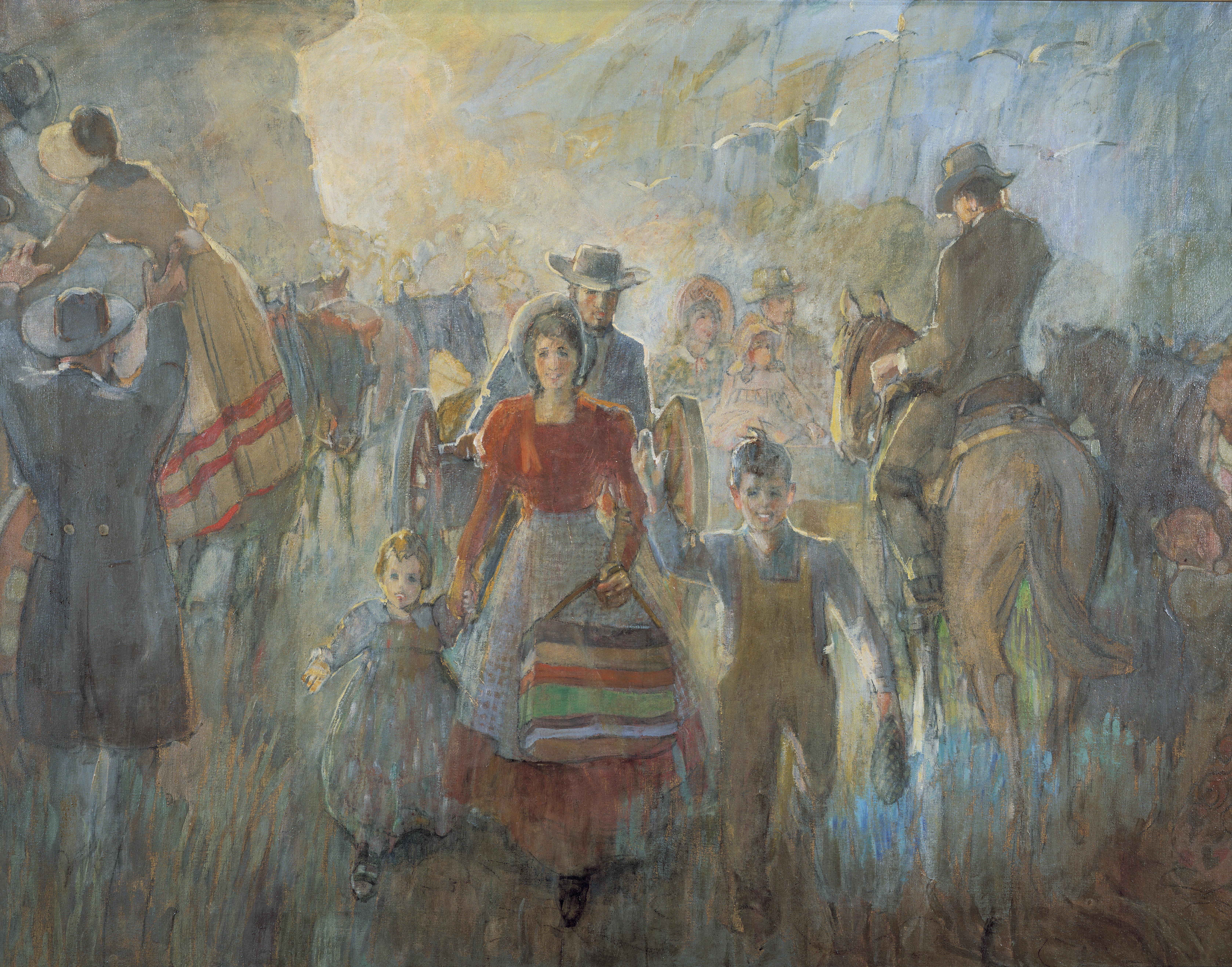 Pioneers Arriving, by Minerva K. Teichert