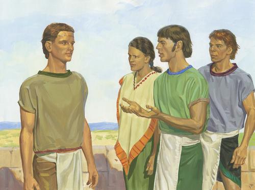 Nephites talking to Nephi