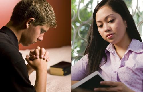 Prayer. Youth. Male