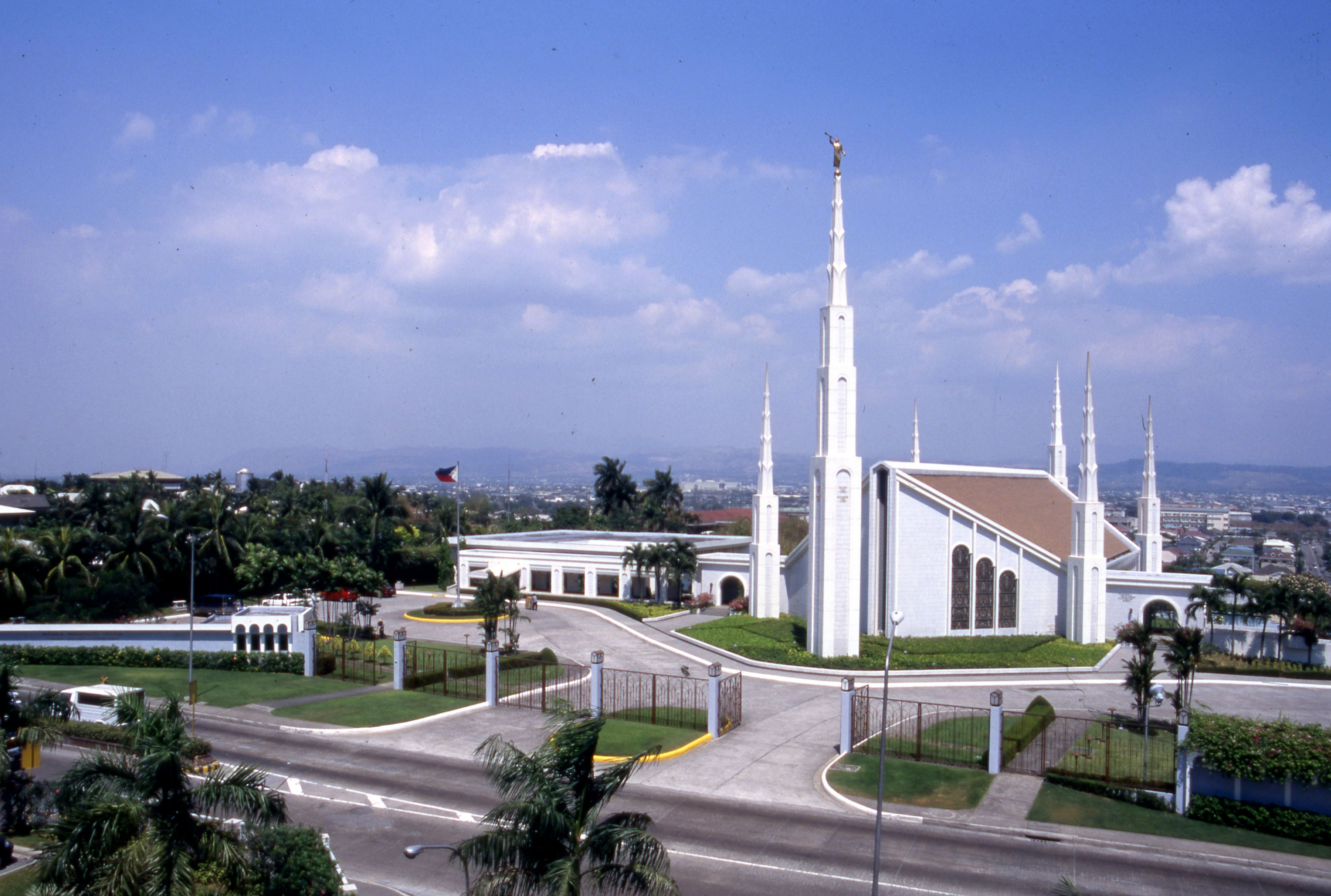 The Manila Philippines Temple and grounds.