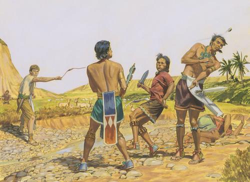 Ammon killing robbers