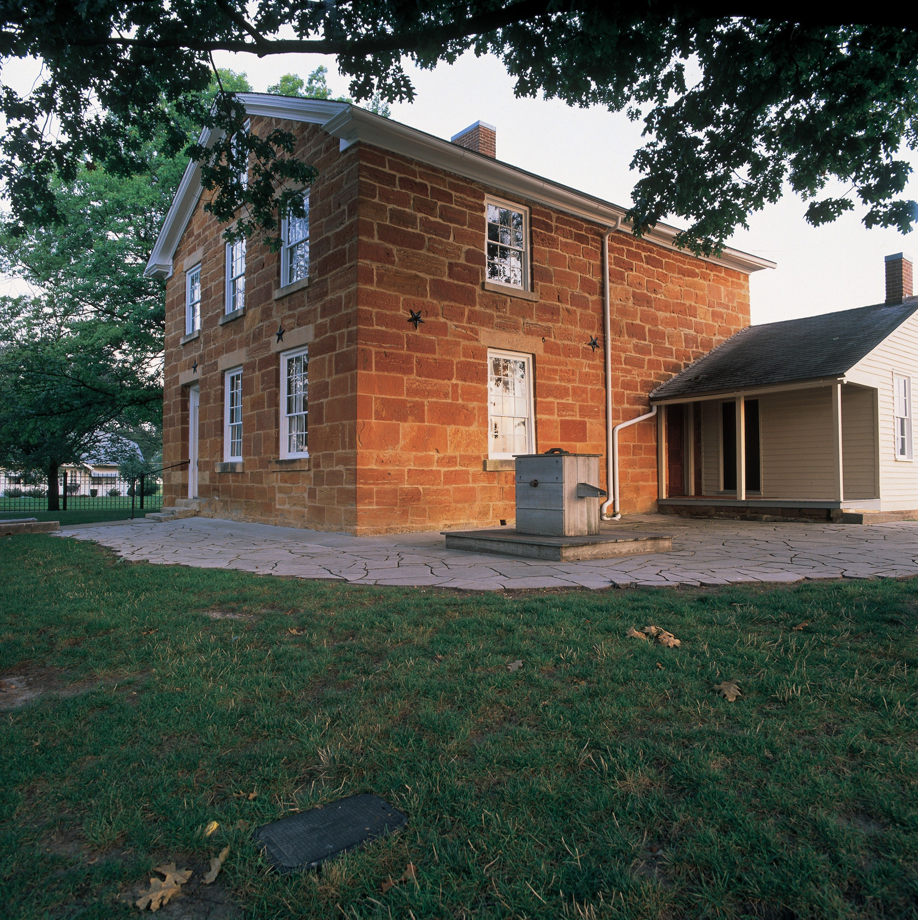 A view of Carthage Jail in Carthage, Illinois.