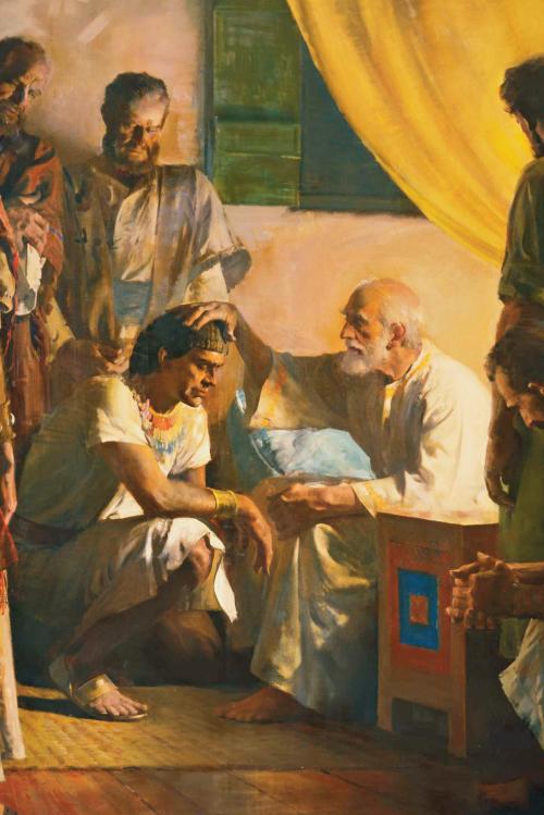 Jacob blessing Joseph
