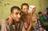 Familie in einem Flüchtlingslager