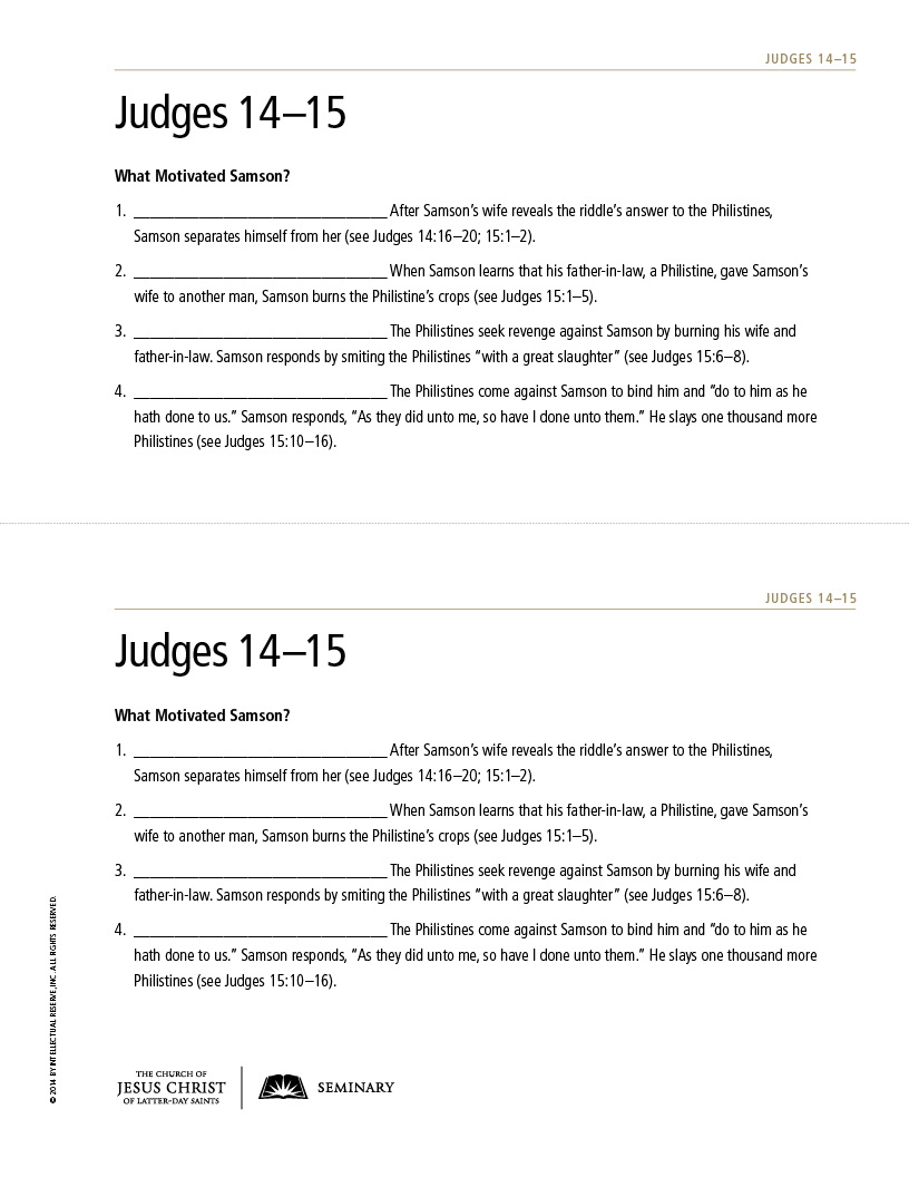 Lesson 78: Judges 10–21