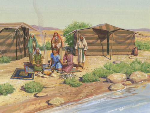 tents and family