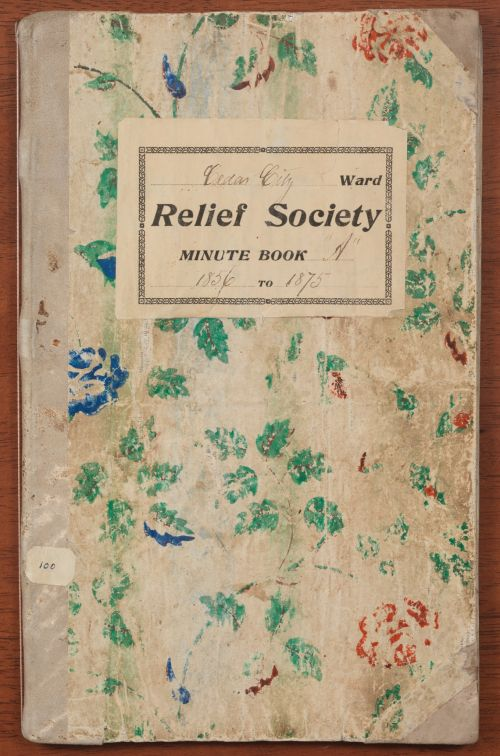 Minute Book from Cedar City Relief Society