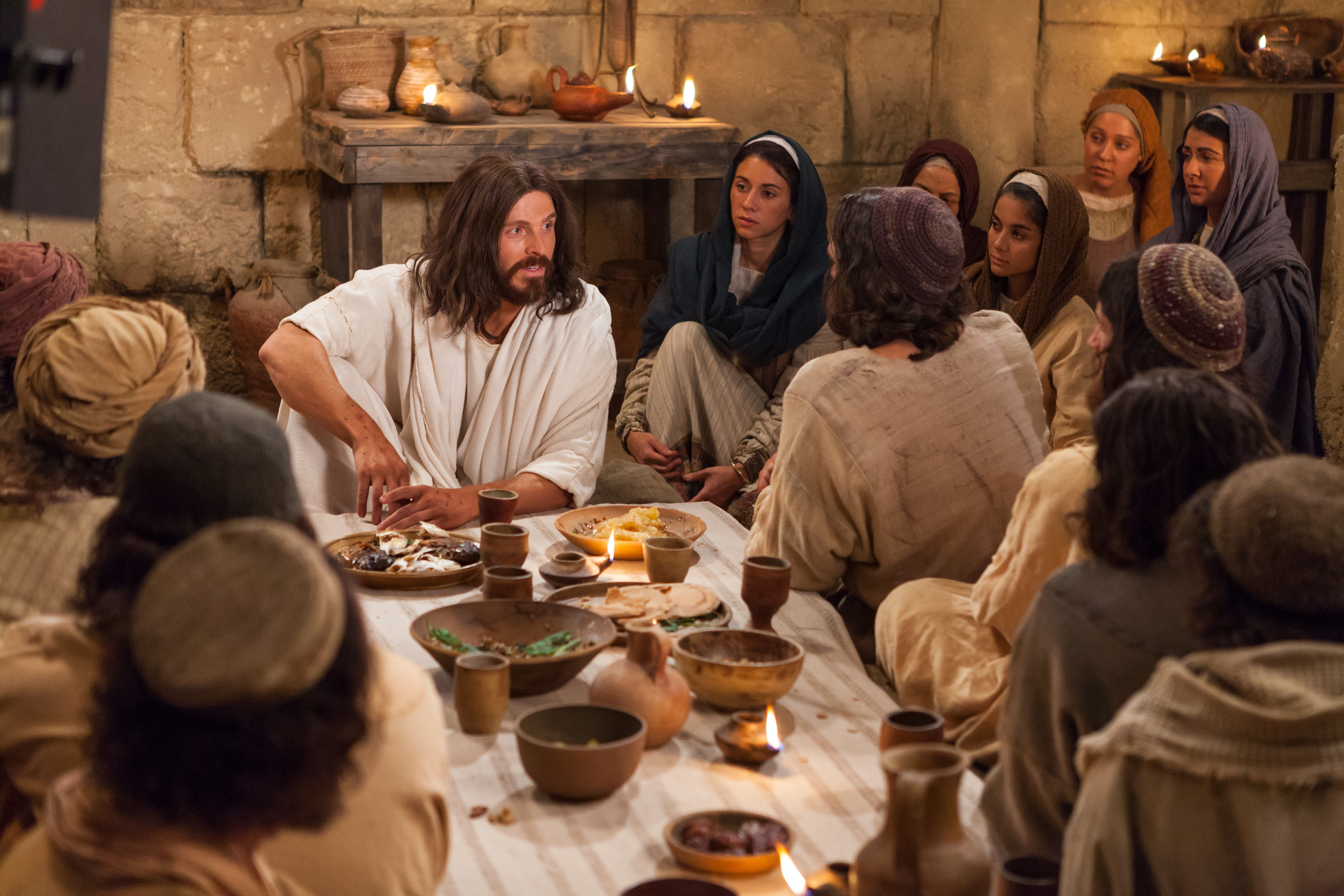 The resurrected Jesus appears and shows Himself to the Apostles.