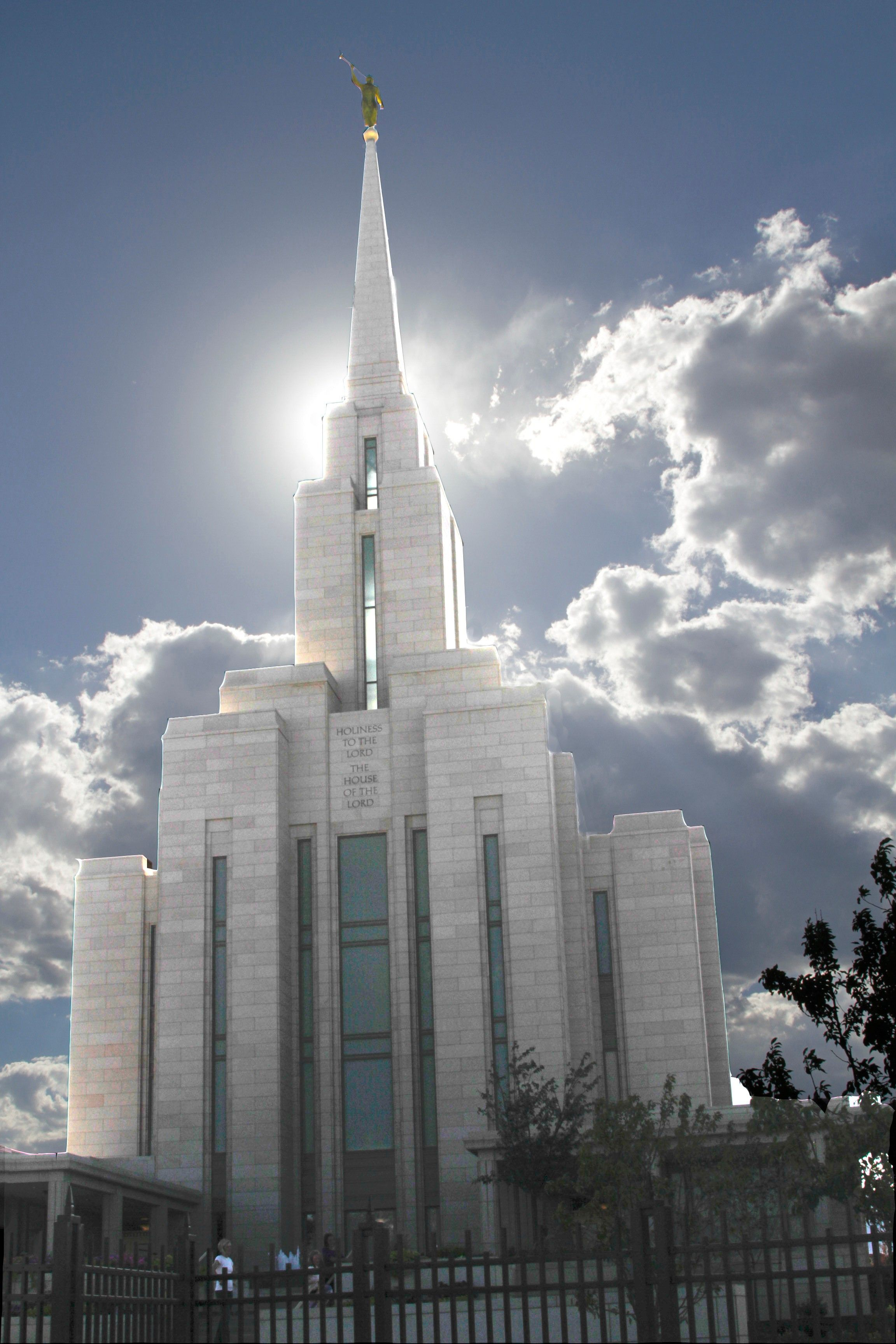 The Oquirrh Mountain Utah Temple, including entrance.