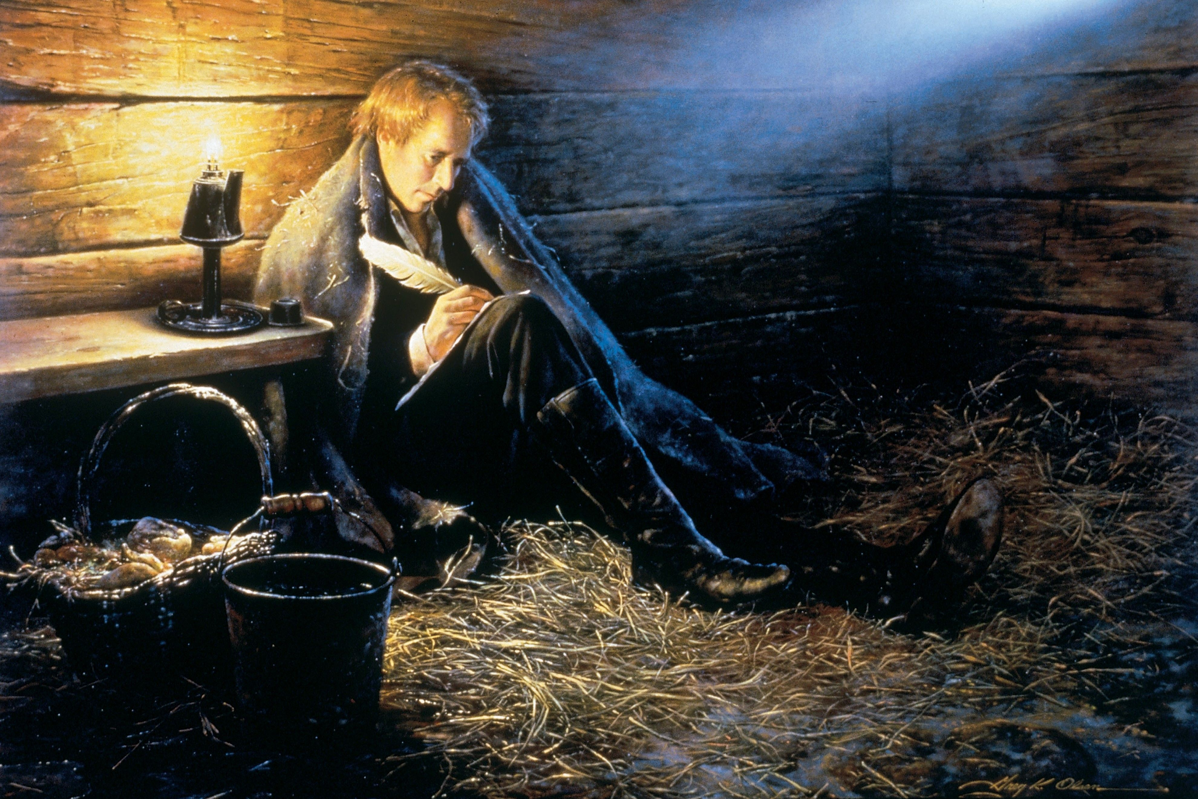 Joseph Smith in Liberty Jail, by Greg K. Olsen; Primary manual 5-32