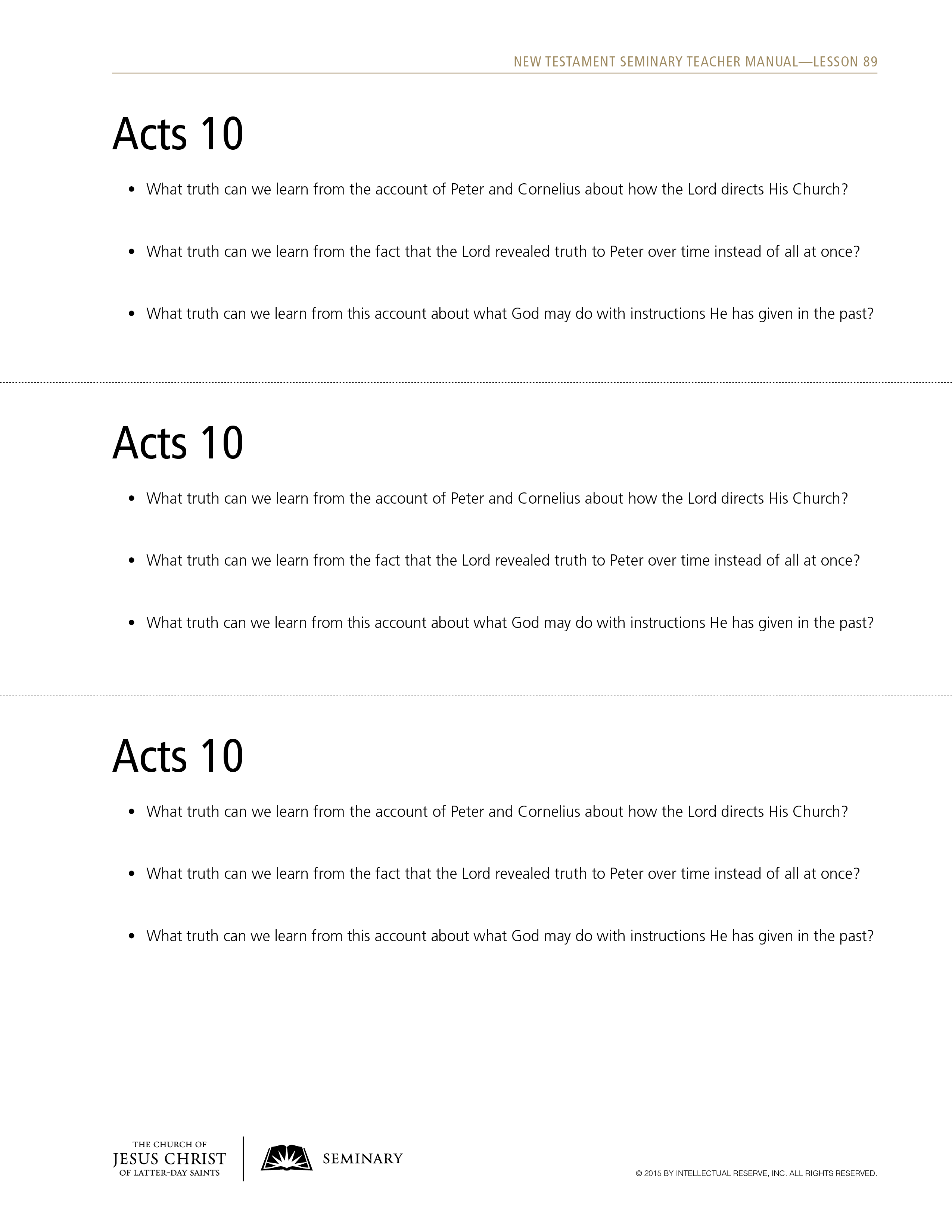 Lesson 89: Acts 10–11