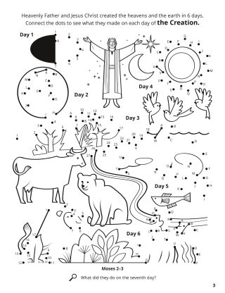 The Creation coloring page