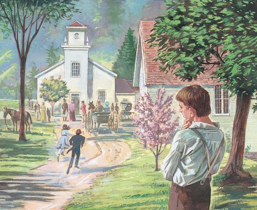 Joseph looking at church