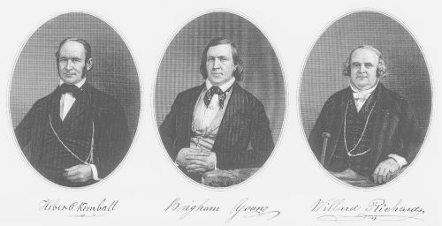First Presidency and the Quorum of the Twelve Apostles. 1853