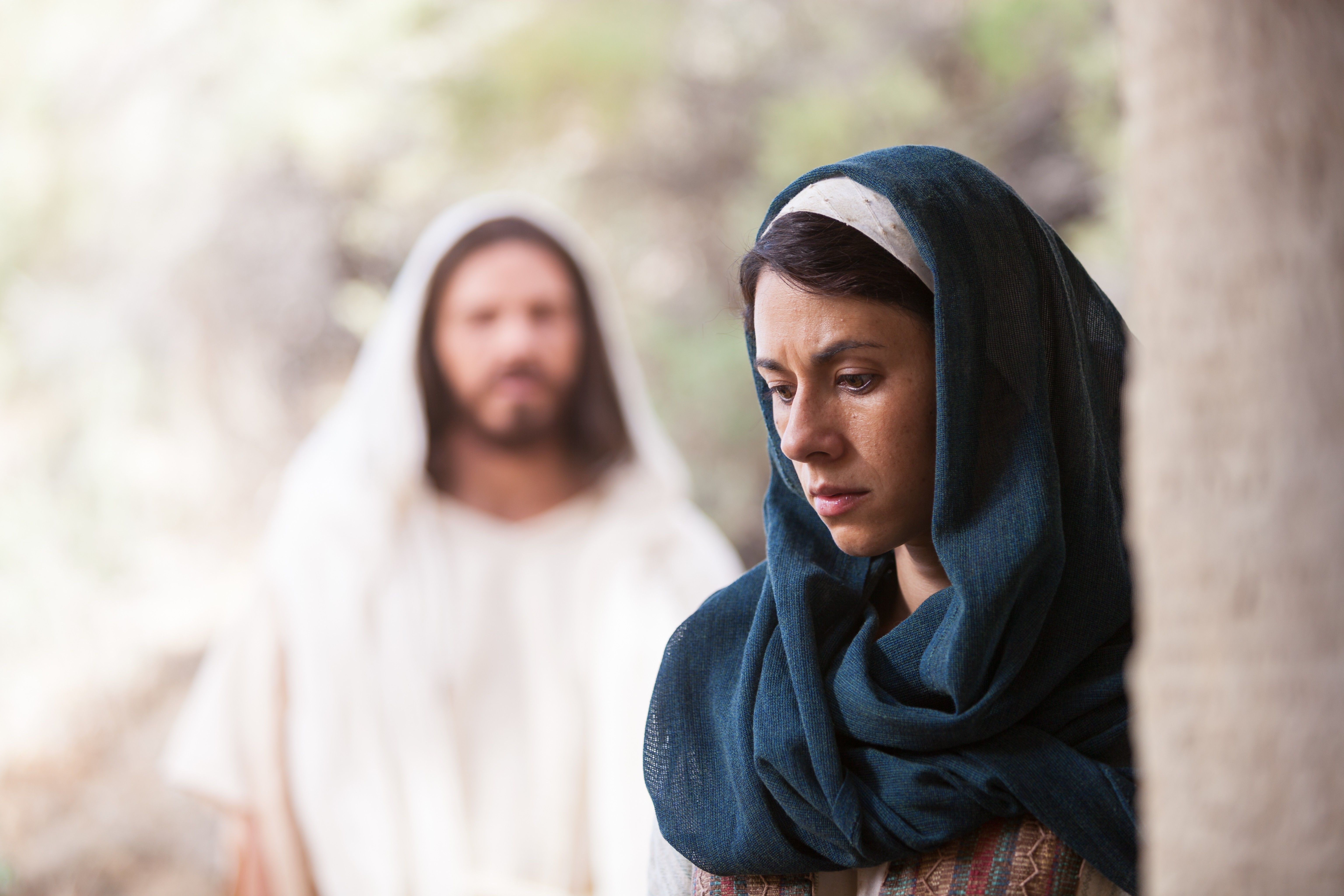 Mary Magdalene hears the voice of Christ while seeking Him at the tomb.