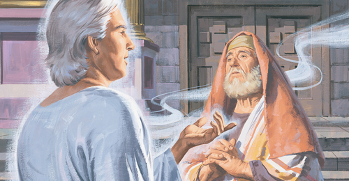 angel talking to Zacharias