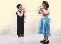 children playing telephone