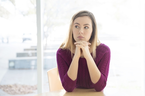 A Woman Deep in Thought