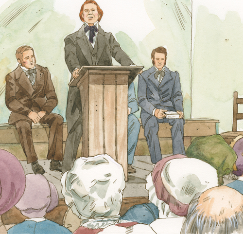 Brigham Young speaking