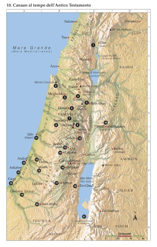 Cartina Fisica Del Libano.10 Canaan Al Tempo Dell Antico Testamento