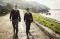 two missionaries walking