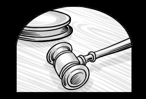 Saints V2 illustration - Judges Gavel