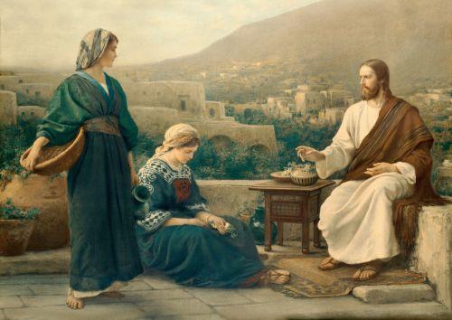 CHrist Teaching Mary and Martha